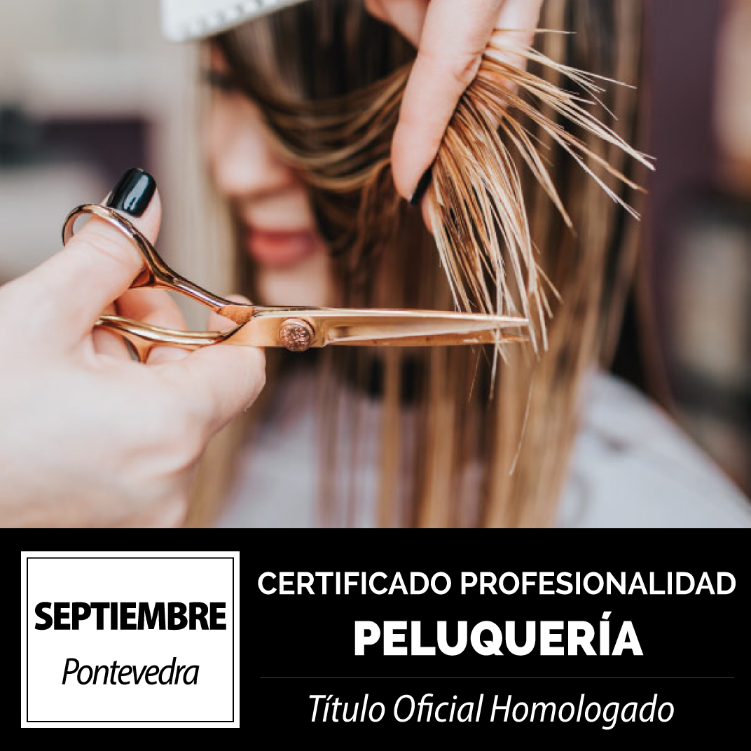 CERTIFICADO PROFESIONALIDAD DE PELUQUERÍA